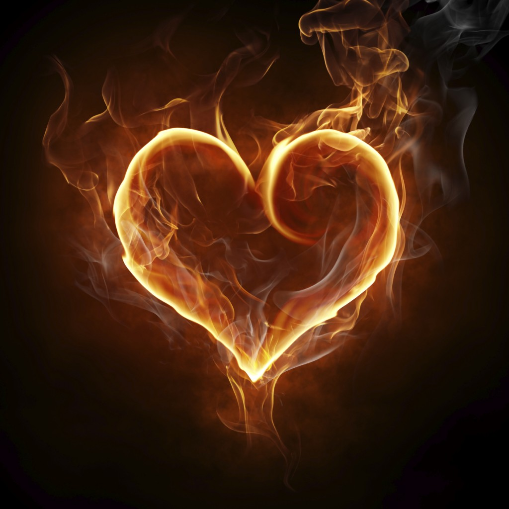 picture of flaming heart